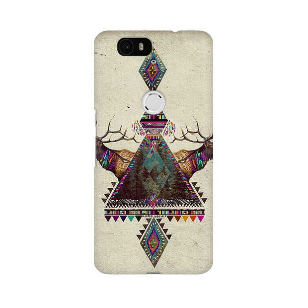 Huawei Nexus 6P Deer Symmetry Phone Cover & Case