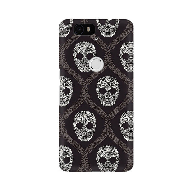 Huawei Nexus 6P Floral Skull 2 Phone Cover & Case