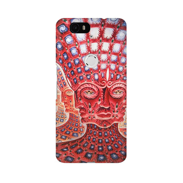Huawei Nexus 6P Psychedelic Faces Phone Cover & Case