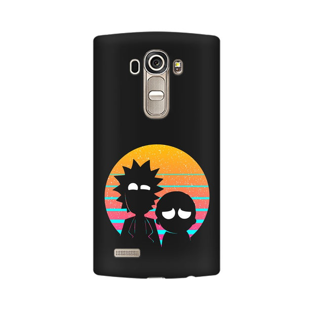 LG G4 Rick & Morty Outline Minimal Phone Cover & Case