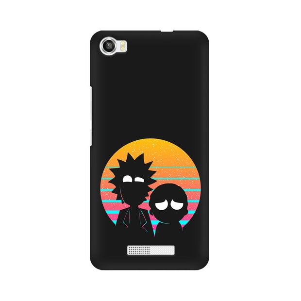 Lava Iris X8 Rick & Morty Outline Minimal Phone Cover & Case