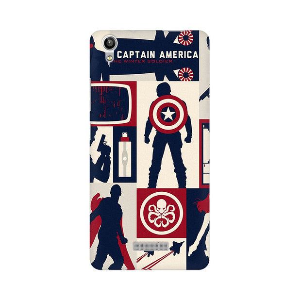 Lava Pixel V1 Captain America Collage Phone Cover & Case
