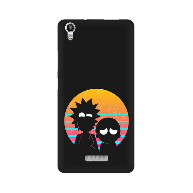 Lava Pixel V1 Rick & Morty Outline Minimal Phone Cover & Case