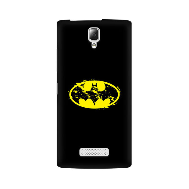 Lenovo A2010 Flourished Yellow Batman Phone Cover & Case