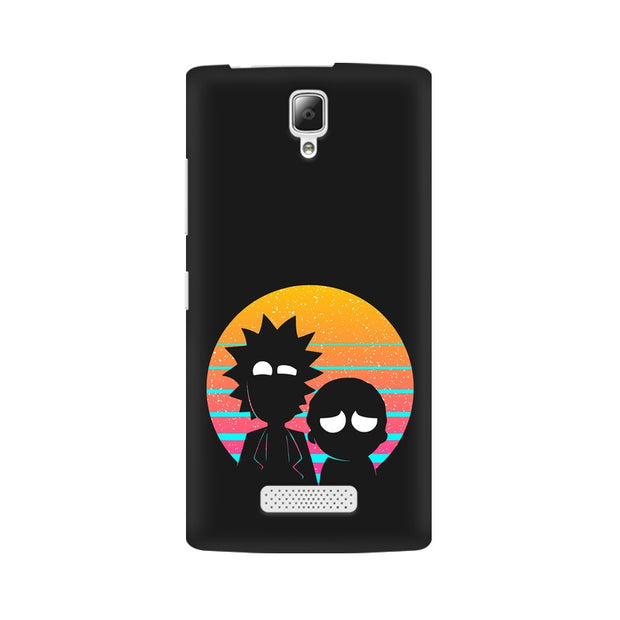 Lenovo A2010 Rick & Morty Outline Minimal Phone Cover & Case