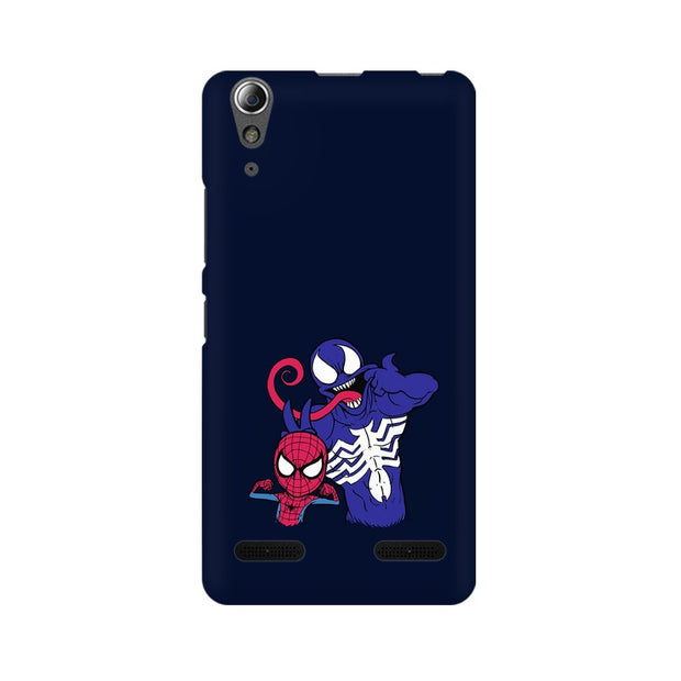 Lenovo A6000 Plus Spider Man & Venom Funny Phone Cover & Case