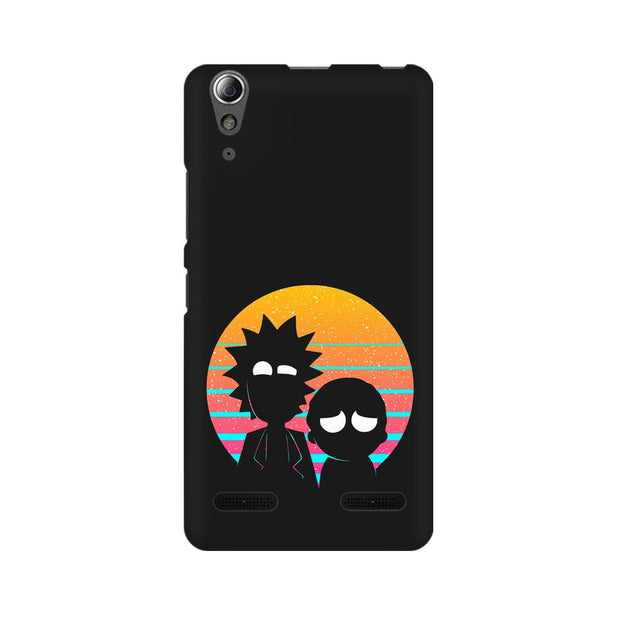 Lenovo A6000 Plus Rick & Morty Outline Minimal Phone Cover & Case