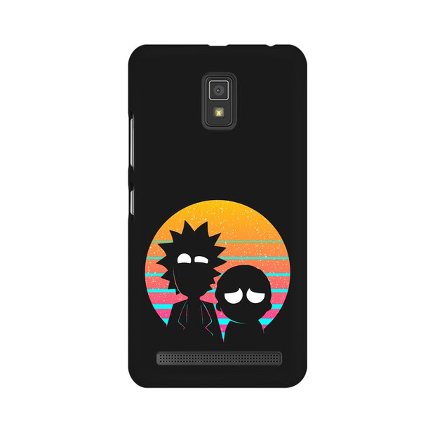 Lenovo A6600 Rick & Morty Outline Minimal Phone Cover & Case