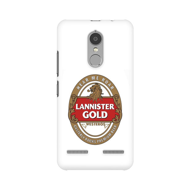 Lenovo K6 Power Lannister Gold Game Of Thrones Cool Phone Cover & Case