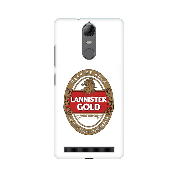 Lenovo Vibe K5 Note Lannister Gold Game Of Thrones Cool Phone Cover & Case