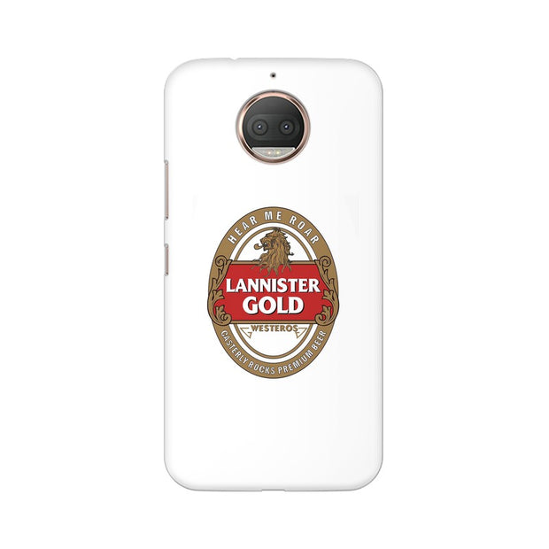 Moto E4 Plus Lannister Gold Game Of Thrones Cool Phone Cover & Case