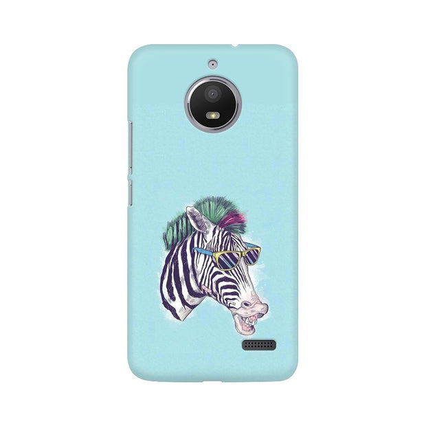 Moto E4 The Zebra Style Cool Phone Cover & Case