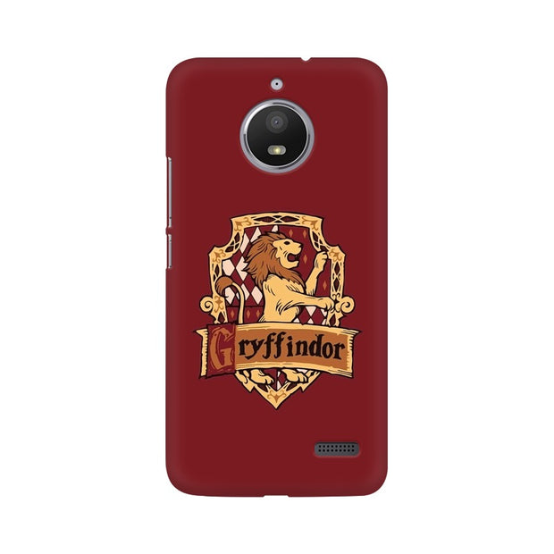 Moto E4 Gryffindor House Crest Harry Potter Phone Cover & Case