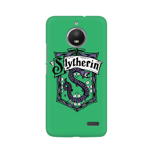 Moto E4 Slytherin House Crest Harry Potter Phone Cover & Case