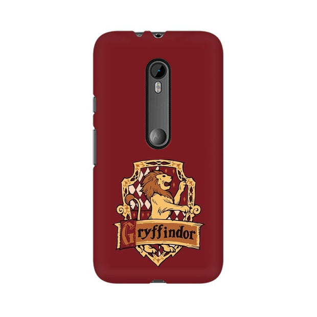 Moto G3 Gryffindor House Crest Harry Potter Phone Cover & Case