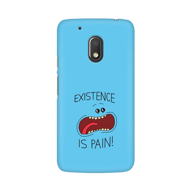 Moto G4 Play Existence Is Pain Mr Meeseeks Rick & Morty Phone Cover & Case