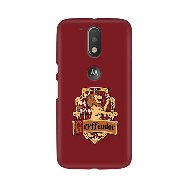 Moto G4 Gryffindor House Crest Harry Potter Phone Cover & Case