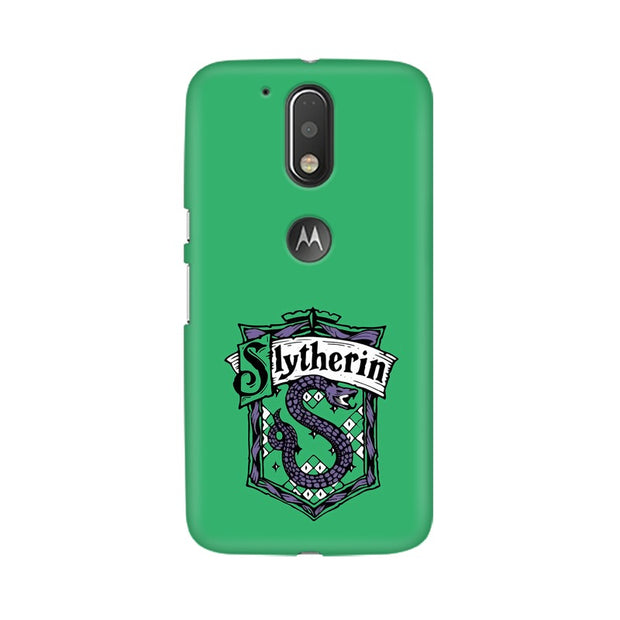 Moto G4 Slytherin House Crest Harry Potter Phone Cover & Case