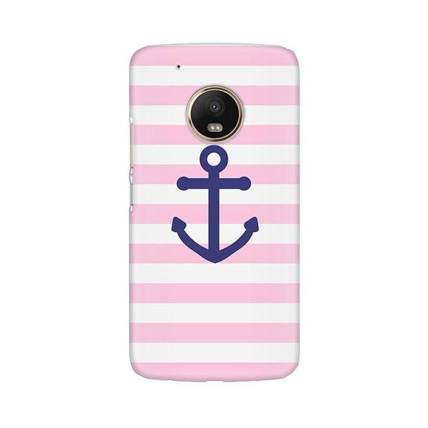 Moto G5 Plus Pink Anchor Phone Cover & Case