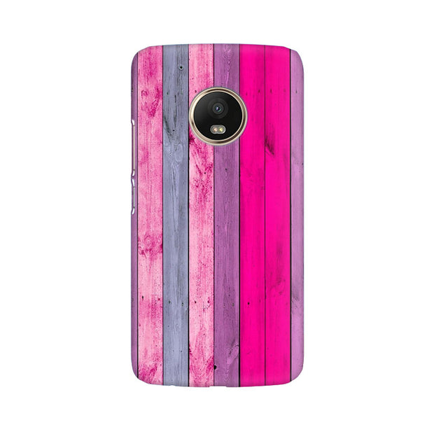 Moto G5 Plus Pink Wood Shade Phone Cover & Case