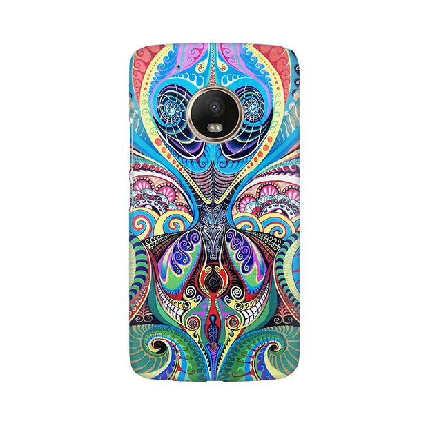 Moto G5 Plus Psychedelic Alien Phone Cover & Case
