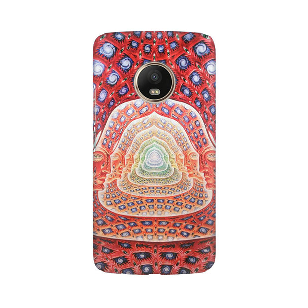Moto G5 Plus Psychedelic Faces On The Wall Phone Cover & Case