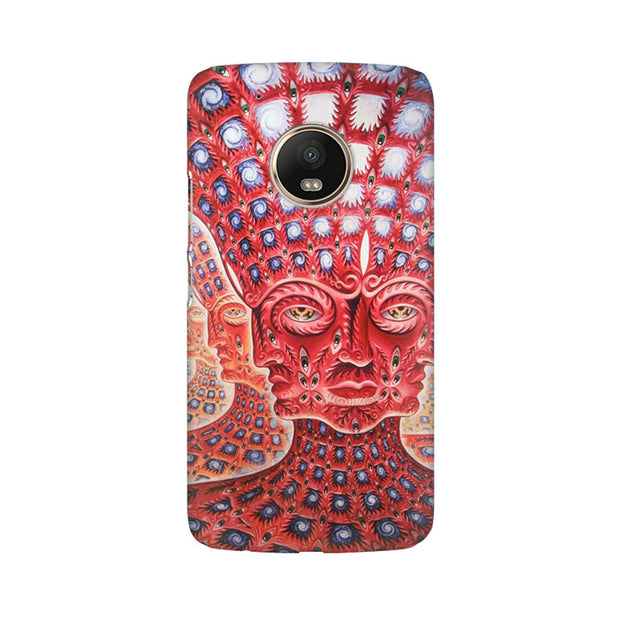Moto G5 Plus Psychedelic Faces Phone Cover & Case