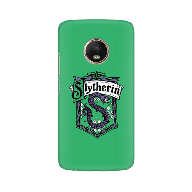 Moto G5 Slytherin House Crest Harry Potter Phone Cover & Case