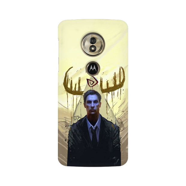 Moto G6 Play True Detective Rustin Fan Art Phone Cover & Case