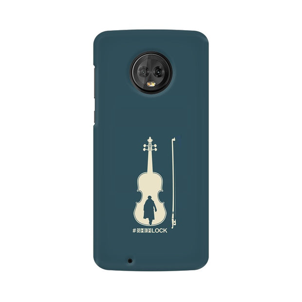 Moto G6 Sherlock Violin Fan Art Phone Cover & Case