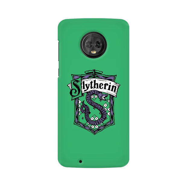 Moto G6 Slytherin House Crest Harry Potter Phone Cover & Case