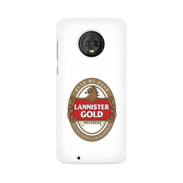 Moto G6 Lannister Gold Game Of Thrones Cool Phone Cover & Case