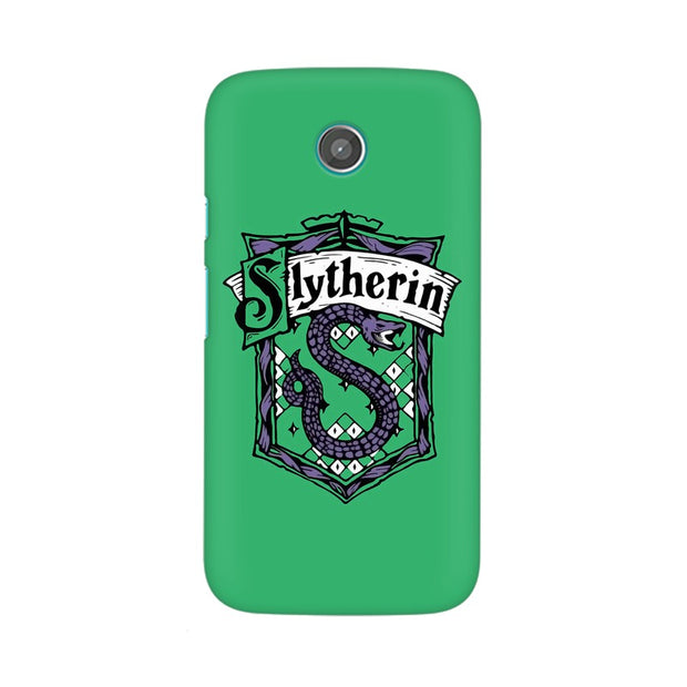 Moto G Slytherin House Crest Harry Potter Phone Cover & Case