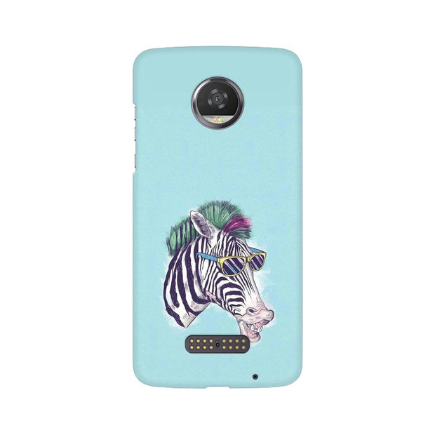 Moto Z2 Play The Zebra Style Cool Phone Cover & Case