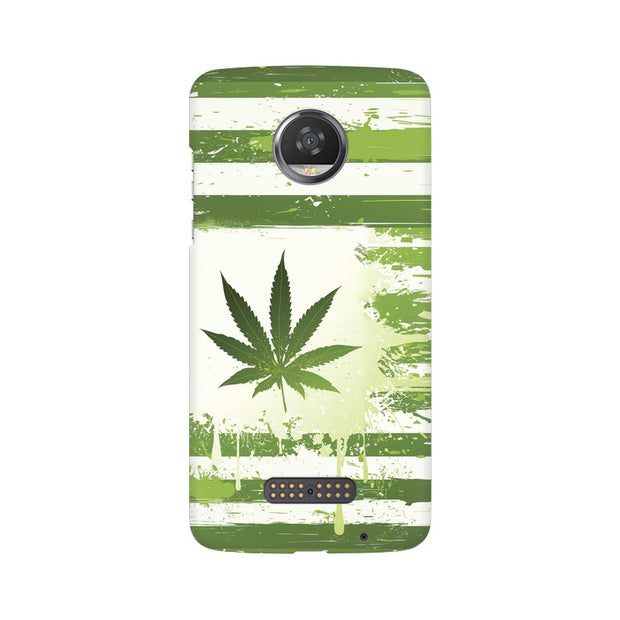 Moto Z2 Play Weed Flag  Phone Cover & Case