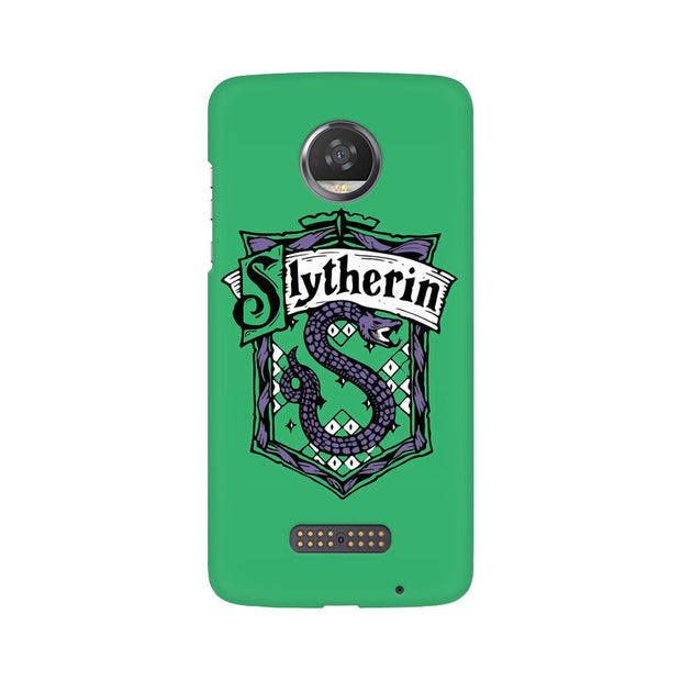 Moto Z2 Play Slytherin House Crest Harry Potter Phone Cover & Case