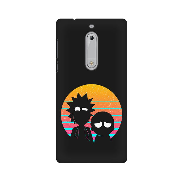Nokia 5 Rick & Morty Outline Minimal Phone Cover & Case