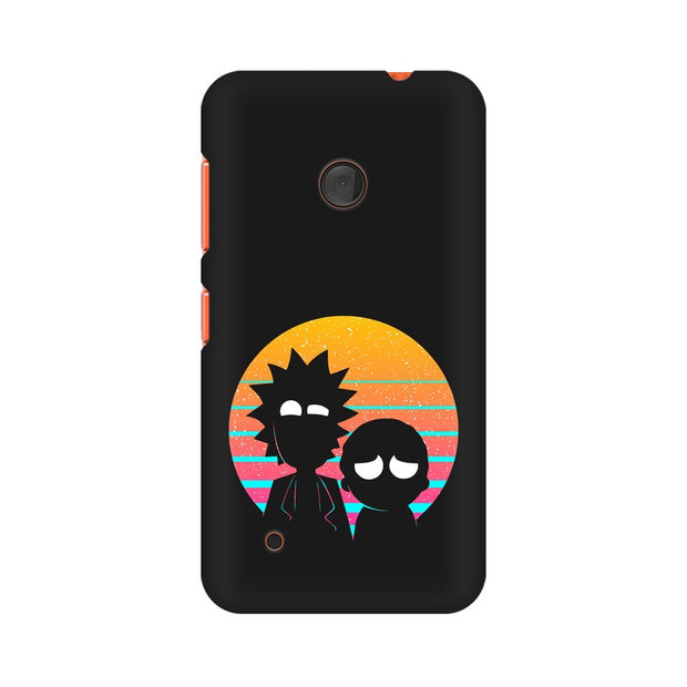Nokia Lumia 530 Rick & Morty Outline Minimal Phone Cover & Case