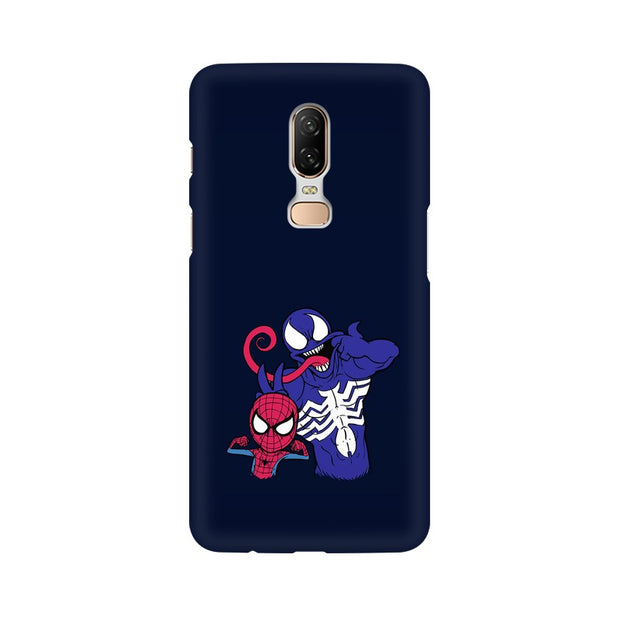 OnePlus 6 Spider Man & Venom Funny Phone Cover & Case