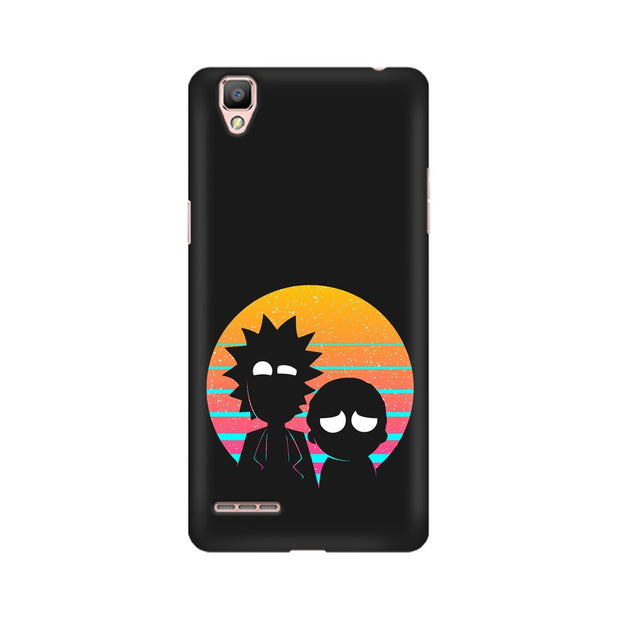 Oppo A35 Rick & Morty Outline Minimal Phone Cover & Case