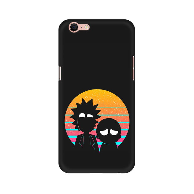 Oppo A39 Rick & Morty Outline Minimal Phone Cover & Case
