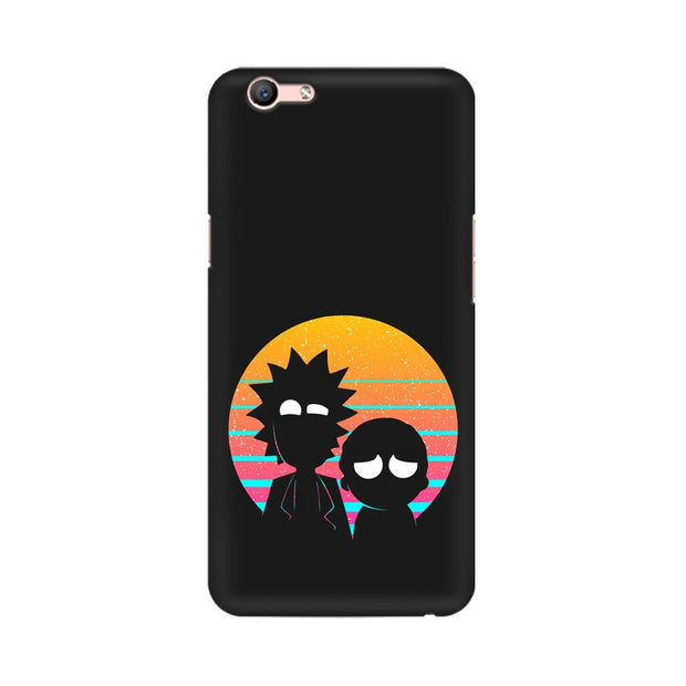Oppo A59 Rick & Morty Outline Minimal Phone Cover & Case