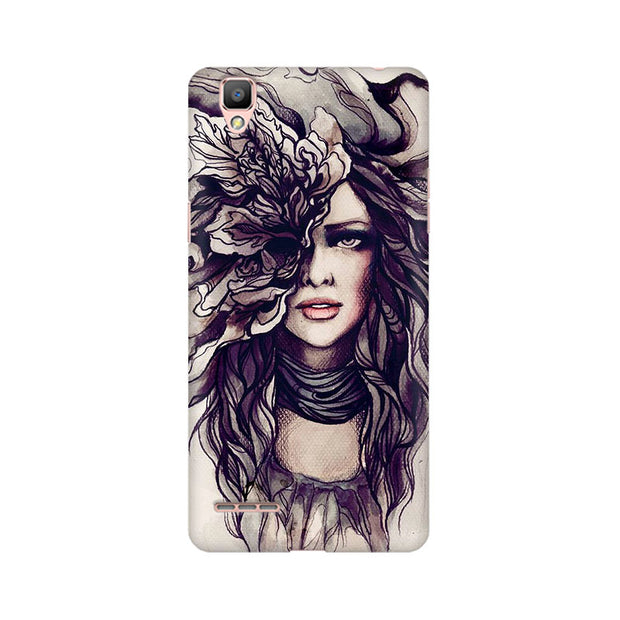 Oppo F1 Crazy Hairy Girl Phone Cover & Case