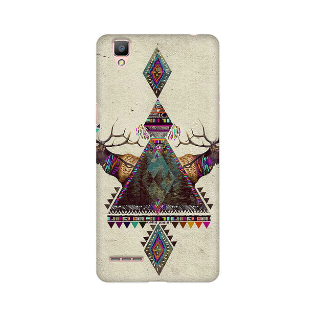 Oppo F1 Deer Symmetry Phone Cover & Case