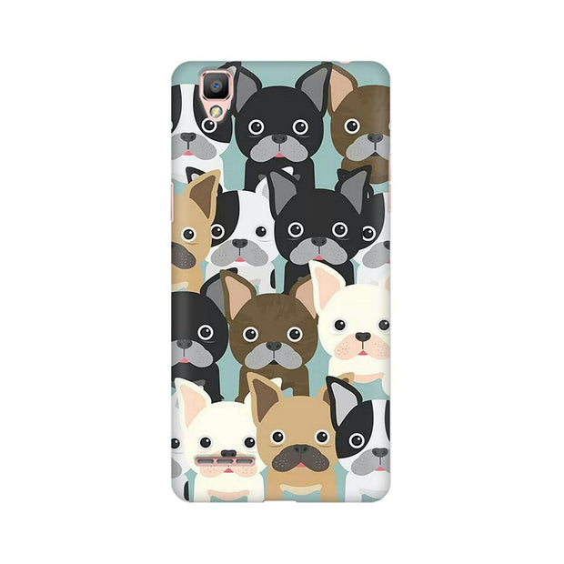 Oppo F1 Dog Family Cluster Phone Cover & Case