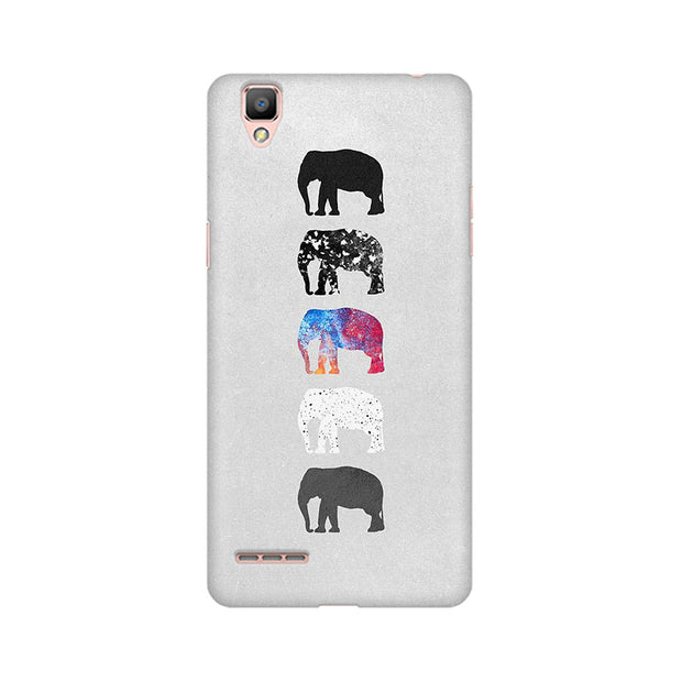 Oppo F1 Five Shades Of Elephants Phone Cover & Case