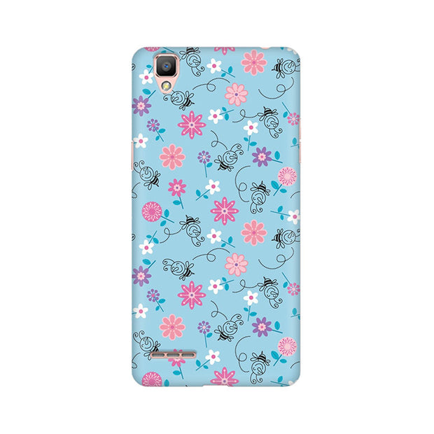 Oppo F1 Floral Girly Wall Phone Cover & Case
