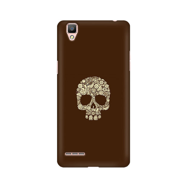 Oppo F1 Floral Skull Phone Cover & Case
