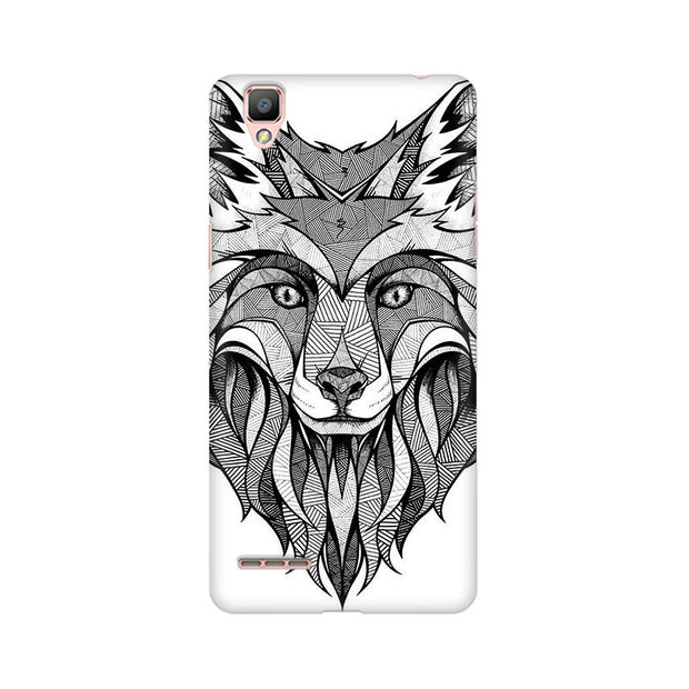 Oppo F1 Line Art Wolf Phone Cover & Case