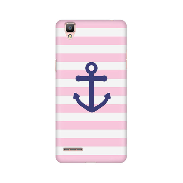 Oppo F1 Pink Anchor Phone Cover & Case